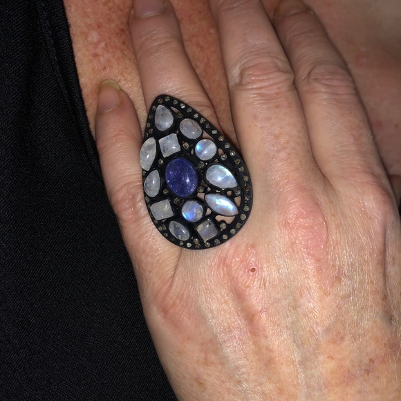 Jewelry - NWOT TANZANITE MOONSTONE ,OLD MINE CUT DIAMOND